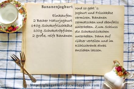 EinkaufszettelBananenjoghurt
